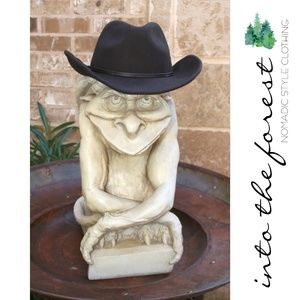 Accessories - Chocolate Brown Wool Cowboy Hat One Size